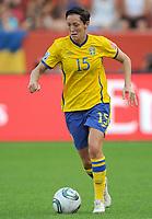 Fotball<br /> VM kvinner 2011 Tyskland<br /> 28.06.2011<br /> Sverige v Colombia<br /> Foto: Witters/Digitalsport<br /> NORWAY ONLY<br /> <br /> Therese Sjögran (Schweden)<br /> Frauenfussball WM 2011 in Deutschland, Kolumbien - Schweden 0:1