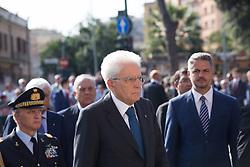 September 8, 2017 - Roma, RM, Italy - President of the Italian Republic Sergio Mattarella.during the celebrations for the 74th anniversary of the Defense of Rome, (Credit Image: © Matteo Nardone/Pacific Press via ZUMA Wire)