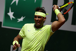 May 29, 2019 - Paris, France - Spain's Rafael Nadal  returns   the ball to Germany's Yannick Maden during their men's singles second round match on day four of The Roland Garros 2019 French Open tennis tournament in Paris on May 29, 2019. (Credit Image: © Ibrahim Ezzat/NurPhoto via ZUMA Press)