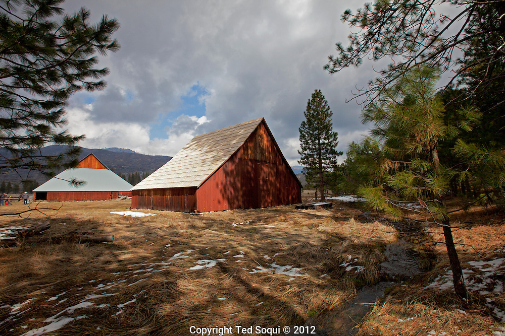 Barns at the Foresta area of Yosemite.