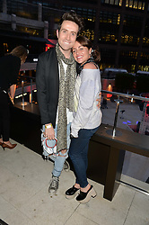 NICK GRIMSHAW and JAIME WINSTONE at the launch of Broadgate Circle, City of London on 9th June 2015.