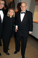 MR & MRS NAIM ATTALLAH at a private dinner to unveil the Van Cleef & Arpels jewellery collection 'Couture' with fashion by Anouska Hempel Couture held at The Banqueting House, Whitehall Palace, London on 8th March 2005.<br /><br />NON EXCLUSIVE - WORLD RIGHTS