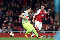 Sead Kolasinac of Arsenal passes the ball - Mandatory by-line: Patrick Khachfe/JMP - 14/09/2017 - FOOTBALL - Emirates Stadium - London, England - Arsenal v Cologne - UEFA Europa League Group stage