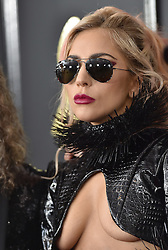 Celebrities arrive on the red carpet for the 59th Grammy Awards held at the Staples Centre in downtown Los Angeles, California. 12 Feb 2017 Pictured: Lady Gaga. Photo credit: Bauergriffin.com / MEGA TheMegaAgency.com +1 888 505 6342