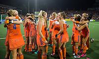 AMSTELVEEN -  Vreugde bij Oranje na de gewonnen  damesfinale Nederland-Belgie bij de Rabo EuroHockey Championships 2017.  COPYRIGHT KOEN SUYK