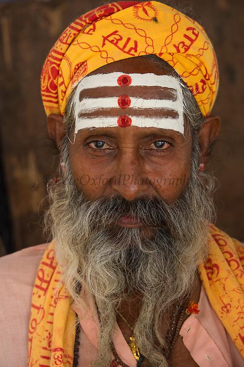 Holy Man<br /> Bateshwar Temple<br /> Bateshwar Village, Agra District on banks of Yamuna River<br /> Uttar Pradesh, India