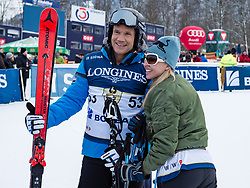 20.01.2018, Hahnenkamm, Kitzbühel, AUT, FIS Weltcup Ski Alpin, Kitzbuehel, Kitz Charity Trophy, im Bild v.l.: Armin Assinger, Nina Proll // f.l.: Armin Assinger Nina Proll during the Kitz Charity Trophy of the FIS Ski Alpine World Cup at the Hahnenkamm in Kitzbühel, Austria on 2018/01/20. EXPA Pictures © 2018, PhotoCredit: EXPA/ Stefan Adelsberger