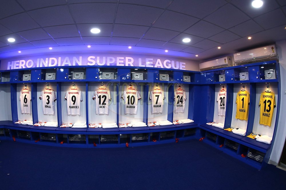 FC Goa dressing room before the start of the match 25 of the Hero Indian Super League 2018 ( ISL ) between Jamshedpur FC and FC Goa held at JRD Tata Sports Complex, Jamshedpur, India on the 1st November  2018<br /> <br /> Photo by: Deepak Malik /SPORTZPICS for ISL