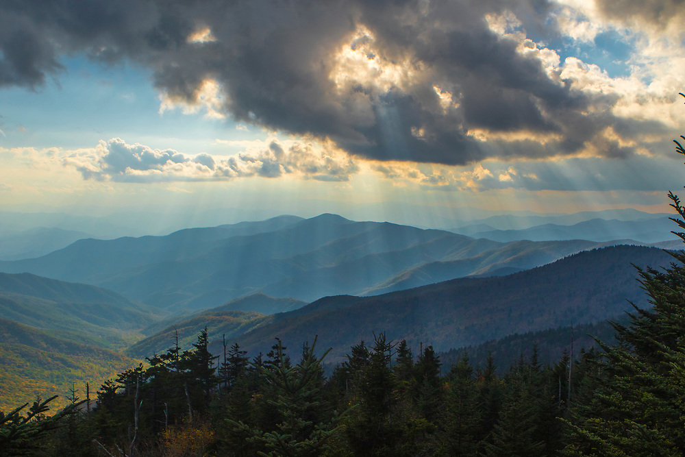 GATLINBURG, TN - OCTOBER 13: Images from Smoky Mountain National Park in Gatlinburg, TN. Motor Nature Trail, Clingman's Dome.
