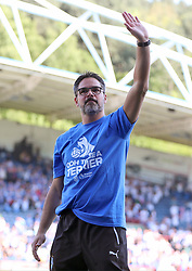 Huddersfield Town manager David Wagner waves to the fans after the Premier League match at the John Smith's Stadium, Huddersfield.