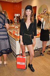 CHARLOTTE DE CARLE at a Hello! magazine and Folli Follie shopping evening at Folli Follie, 493 Oxford Street, London on 25th August 2016.