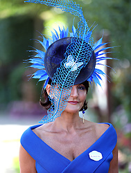 Miss Ilda Di Vico arrives during day four of Royal Ascot at Ascot Racecourse.