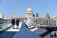 People out in london as the lockdown rules change Millennium Bridge, London photo by Krisztian Kobold Elek