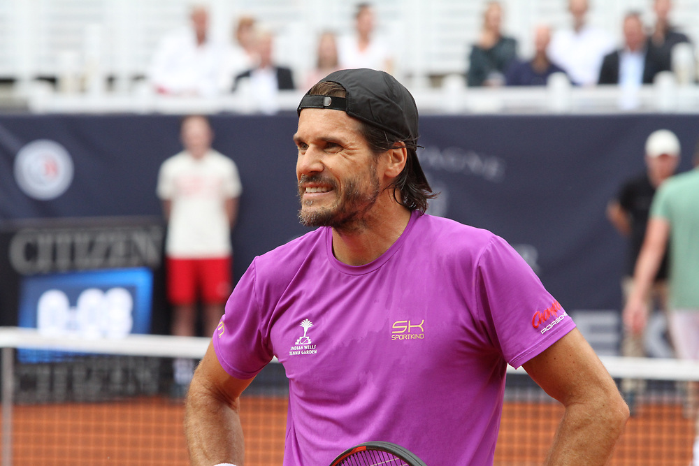 Tennis: Rothenbaum, German Open 2017, Hamburg, 23.07.2017<br /> Manhagen Classics: Michael Stich (GER) - Tommy Haas (GER)<br /> © Torsten Helmke