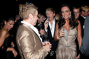 ROYSTON BLYTHE; NICK MILENKO; TAMARA ECCLESTONE, Grey Goose Winter Ball to Benefit the Elton John AIDS Foundation. Battersea park. London. 29 October 2011. <br /> <br />  , -DO NOT ARCHIVE-© Copyright Photograph by Dafydd Jones. 248 Clapham Rd. London SW9 0PZ. Tel 0207 820 0771. www.dafjones.com.