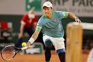 Kei Nishikori of Japan during the Roland-Garros 2021, Grand Slam tennis tournament on June 6, 2021 at Roland-Garros stadium in Paris, France - Photo Nicol Knightman / ProSportsImages / DPPI