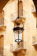 A streetlight, hanging lantern, in the recently rebuilt Downtown area, containing many luxury shops, Beirut, Lebanon