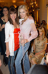 Left to right, SADIE FROST and DONNA AIR at a party to celebrate the opeing of the new Paul & Joe Boutique at 134 Sloane Street, London SW1 on 14th April 2005.<br /><br />NON EXCLUSIVE - WORLD RIGHTS