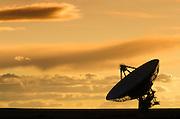 Radio telescope at the Very Large Array (VLA), Plains of San Agustin, Socorro, New Mexico USA