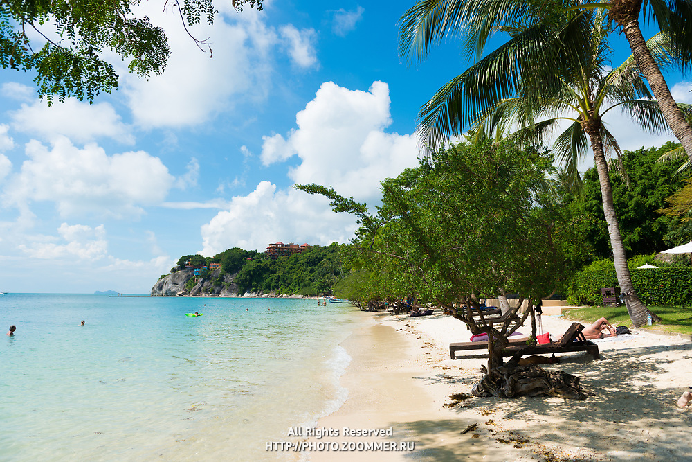 Beautiful Leela Beach near Cocohut village in Phangan island, Thailand