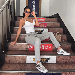 """Chantel Jeffries releases a photo on Instagram with the following caption: """"Seoul was incredible, now Shanghai \ud83d\ude3b"""". Photo Credit: Instagram *** No USA Distribution *** For Editorial Use Only *** Not to be Published in Books or Photo Books ***  Please note: Fees charged by the agency are for the agency's services only, and do not, nor are they intended to, convey to the user any ownership of Copyright or License in the material. The agency does not claim any ownership including but not limited to Copyright or License in the attached material. By publishing this material you expressly agree to indemnify and to hold the agency and its directors, shareholders and employees harmless from any loss, claims, damages, demands, expenses (including legal fees), or any causes of action or allegation against the agency arising out of or connected in any way with publication of the material."""