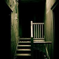 Derelict corridor in Laybourne Grange admin block