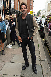 © Licensed to London News Pictures. 17/09/2016. THOM EVANS arrives for the JULIEN MACDONALD Spring/Summer 2017 show. Models, buyers, celebrities and the stylish descend upon London Fashion Week for the Spring/Summer 2017 clothes collection shows. London, UK. Photo credit: Ray Tang/LNP