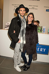 MARK-FRANCIS VANDELLI and ANTONIA PACKARD at the opening of the exhibition Champagne Life in celebration of 30 years of The Saatchi Gallery, held on 12th January 2016 at The Saatchi Gallery, Duke Of York's HQ, King's Rd, London.