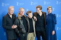 Stellan Skarsgard, Bjorn Floberg, Jon Ranes, Tobias Santelmann and Danica Curcic, at the photocall for the film Out Stealing Horses (Ut Og Stjæle Hester) at the 69th Berlinale International Film Festival, on Saturday 9th February 2019, Hotel Grand Hyatt, Berlin, Germany.