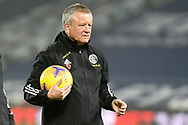 Portrait of Sheffield United manager Chris Wilder  holding a football during the Premier League match between West Bromwich Albion and Sheffield United at The Hawthorns, West Bromwich, England on 28 November 2020.