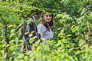 The Duchess of Cambridge leaves after a visit - The RHS Back to Nature Garden, Designed by HRH The Duchess of Cambridge with Andree Davies and Adam White - Press preview day at The RHS Chelsea Flower Show.