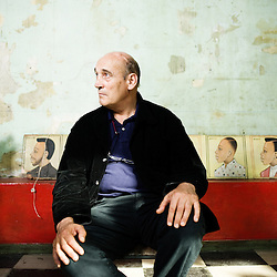 """Olivier LAFFON, President de """"Commerce Developpement"""", dans les locaux du """"Comptoir General"""". Paris, France. 7 octobre 2009. Photo: Antoine Doyen pour Le Monde."""