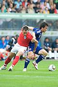(L to R) John Terry (England), Shinji Okazaki (Japan), May 30, 2010 - Football : World Cup South Africa 2010 test match ,  match between Japan 1-2 England  at Libenau stadium, Graz, Austria, (Photo by Enrico Calderoni/AFLO SPORT) [0391]