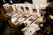 Obama Inauguration - Monday activities around the Capitol on Martin Luther King Jr. Day. Obama merchandise superstore. Reproductions of newspaper front pages from Election Night.