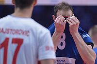 Dejection Marko Ivovic of Serbia<br /> Torino 30-09-2018 Pala Alpitour <br /> FIVB Volleyball Men's World Championship <br /> Pallavolo Campionati del Mondo Uomini <br /> Finals / 3th place<br /> Serbia - USA  <br /> Foto Antonietta Baldassarre / Insidefoto