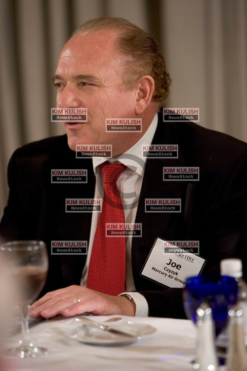 Joseph Czyzyk, Crmn, Pres. and Chief Exec., Mercury Air Group, Inc. attends the Chief Executive luncheon roundtable at the Ritz Carlton, Marina Del Rey, Calif. sponsored by Chief Executive Magazine in partnership with Blue Cross/Blue Shield Association.  Photo By  Kim Kulish