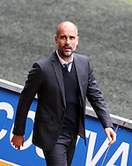 Pep Guardiola, the Manchester city manager arrives at the stadium ahead of the game. Premier league match, Swansea city v Manchester city at the Liberty Stadium in Swansea, South Wales on Saturday 24th September 2016.<br /> pic by Andrew Orchard, Andrew Orchard sports photography.