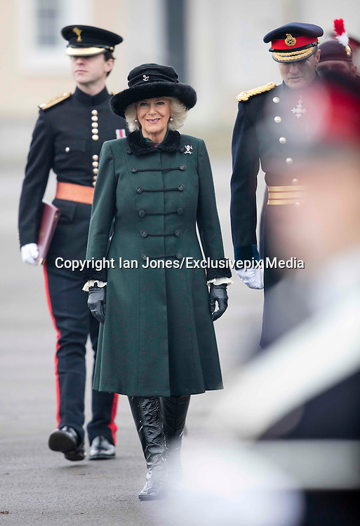 SANDHURST- UK- 16th Dec 2016. <br /><br />HRH The Duchess of Cornwall represents Her Majesty The Queen at The Sovereign's Parade, at the Royal Military Academy Sandhurst, Camberley, Surrey<br />©Exclusivepix Media