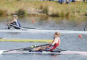 Eton, United Kingdom    GBR LW1X, Katherine COPELAND,  winning the women's lightweight single Sculls, at the Sunday Final, 2012 GB Rowing Trials, Dorney Lake. Near Windsor Berks Sunday  11/03/2012  [Mandatory Credit; Peter Spurrier/Intersport-images]