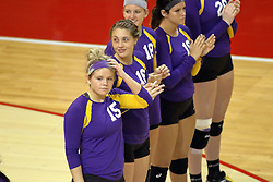 17 October 2014: Northern Illinois starters  during an NCAA Missouri Valley Conference (MVC) womens volleyball match between the Northern Iowa Panthers and the Illinois State Redbirds for 1st place in the conference at Redbird Arena in Normal IL