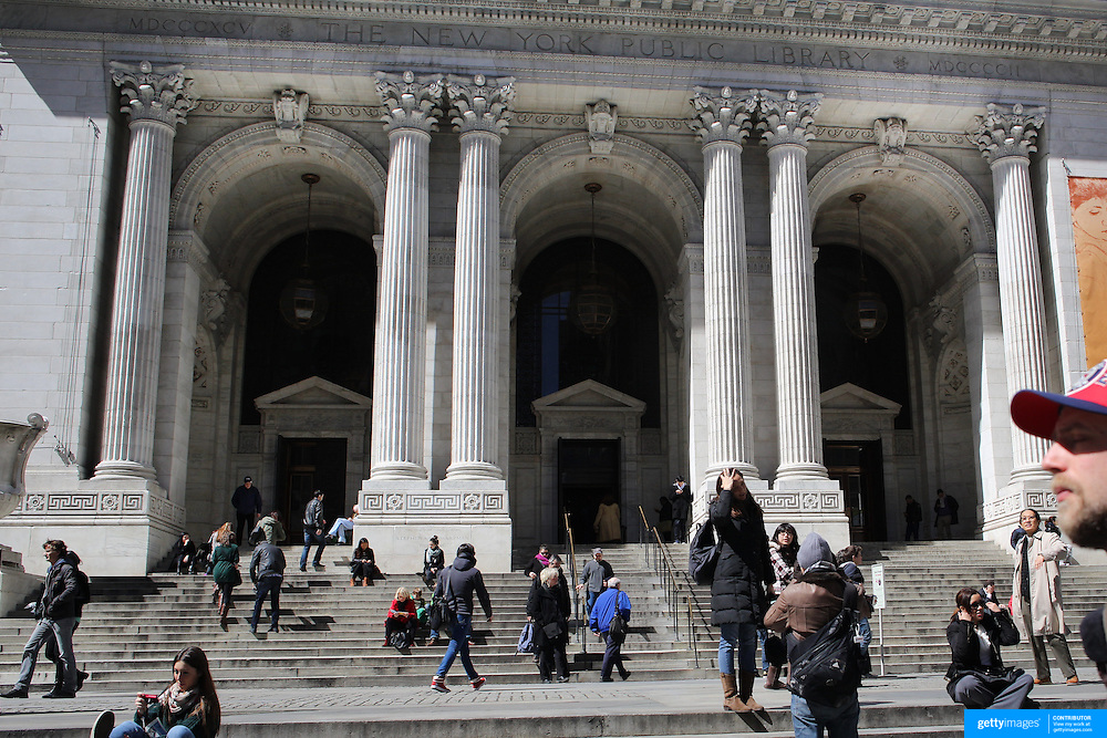 The New York Public Library, with nearly 53 million items, the New York Public Library is the second largest public library in the United States. Manhattan, New York, USA. 29th January 2013. Photo Tim Clayton