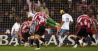 Photo: Paul Thomas.<br /> Sheffield United v Aston Villa. The Barclays Premiership. 11/12/2006.<br /> <br /> Stephen Quinn (28) of Sheff Utd scores.