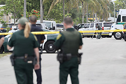May 24, 2019 - Fort Lauderdale, FL, USA - A man wanted in an attempted murder investigation was fired upon by officers from multiple law enforcement offices Friday and died on the grounds of a Broward County mosque on Friday May 24, 2019. (Credit Image: © TNS via ZUMA Wire)