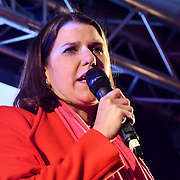 Jo Swinson attends People's vote to Stop Brexit rally due to Brexit vote in Parliament on 15 January 2019, London, UK