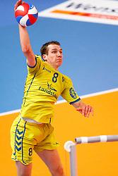 20150426 NED: Eredivisie Landstede Volleybal - Abiant Lycurgus, Zwolle<br />Wouter ter Maat (8) of Landstede Volleybal<br />©2015-FotoHoogendoorn.nl / Pim Waslander
