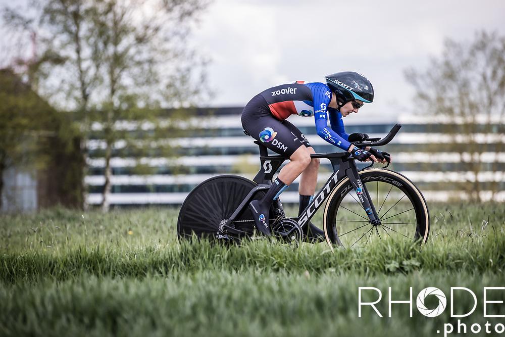 Juliette Labous (FRA/DSM)<br /> <br /> Ceratizit Festival Elsy Jacobs (LUX) 2021<br /> UCI Women Elite 2.1<br /> Day 1 - prologue : Individual Time Trial (ITT) – Cessange (LUX) 2.2km <br /> <br /> ©RhodePhoto