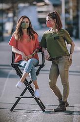 THEMENBILD - Models posieren mit MNS Masken. Die Modedesignerin Irina Gahleitner, Inhaberin und kreativer Kopf von IGGI Fashion, stellt mit Hand modische MNS Masken während der Corona Pandemie her. Die gebürtige Russin, die seit über 10 Jahren im Pinzgau lebt, gründete das Modelabel IGGI Fashion 2018 und bietet Alpine-Lifestyle Mode mit dem gewissen Etwas an, aufgenommen am 10. April 2020, Saalfelden, Oesterreich // Models posing with MNS masks. The fashion designer Irina Gahleitner, owner and creative head of IGGI Fashion, produces fashionable MNS masks by hand during the Corona pandemic. Born in Russia and living in Pinzgau for over 10 years, she founded the label IGGI Fashion 2018 and offers alpine lifestyle fashion with that something special, Saalfelden, Austria on 2020/04/10. EXPA Pictures © 2020, PhotoCredit: EXPA/ JFK