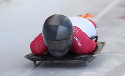 Austria's Janine Flock during the Women's Skeleton practice on day three of the PyeongChang 2018 Winter Olympic Games in South Korea. PRESS ASSOCIATION Photo. Picture date: Monday February 12, 2018. See PA story OLYMPICS Skeleton. Photo credit should read: David Davies/PA Wire. RESTRICTIONS: Editorial use only. No commercial use.