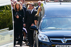 © Licensed to London News Pictures. 12/06/2015. Fort William, UK. Charles Kennedy's ex-wife Sarah Gurling attending the funeral of ex-Liberal Democrat leader Charles Kennedy at St John's Church in Caol, near his Fort William home in Scotland on Friday, June 12, 2015. Mr Kennedy died suddenly on June 1, 2015 at the age of 55 after suffering a major haemorrhage as a result of a long battle with alcoholism. Photo credit: Tolga Akmen/LNP