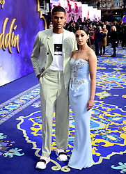 Jordan Spence and Naomi Scott attending the Aladdin European Premiere held at the Odeon Luxe Leicester Square, London.